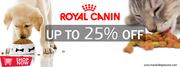 Price Drop! 25%Off:Royal Canin Pet Food + Free Samples